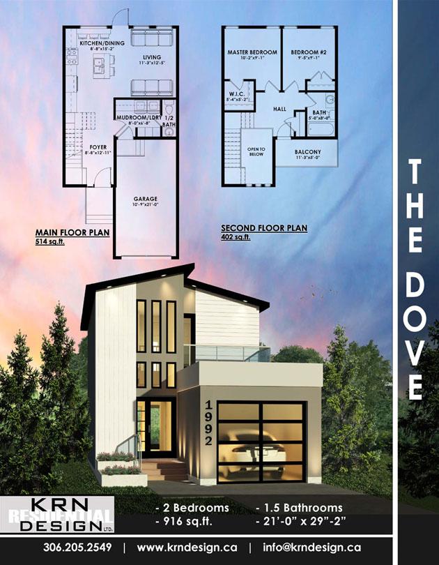 The Dove – 916 SqFt