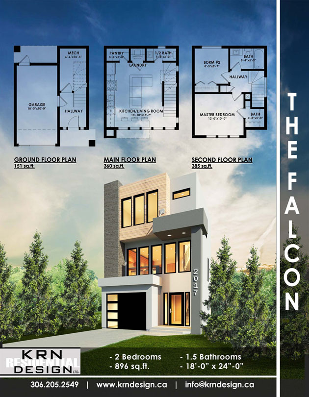 The Falcon – 896 SqFt