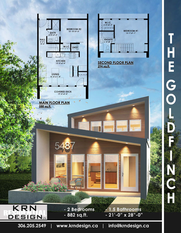 The Goldfinch – 882 SqFt