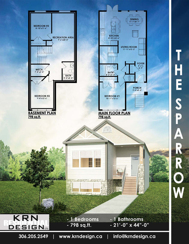 The Sparrow – 798 SqFt