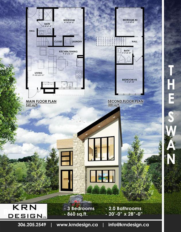 The Swan – 860 SqFt